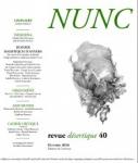 Revue, francophone, Nunc, Réginald Gaillard, Franck Damour, Éditions de Corlevour, Jean-Pierre Longre