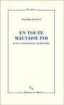 Essai, francophone, Maxime Decout, Les éditions de Minuit, Jean-Pierre Longre